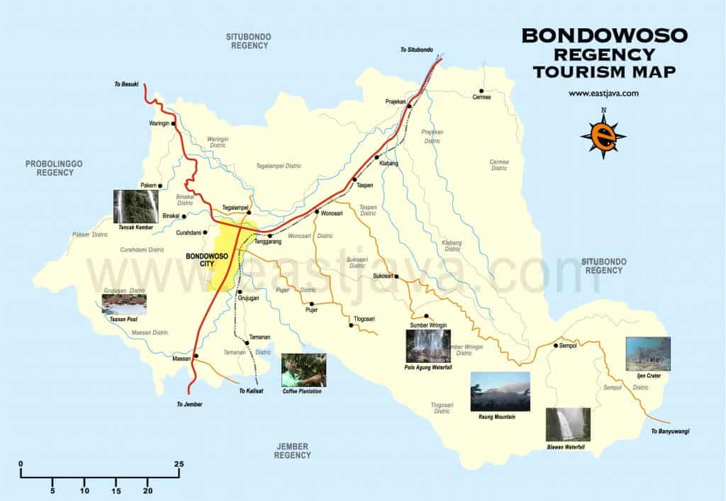 Route to Mount Ijen